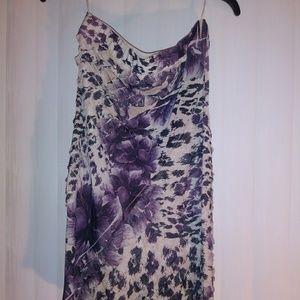 Pretty floral tube-top dress